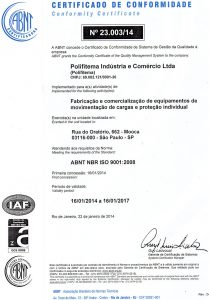 Ceriticado NBR ISO 9001-2008