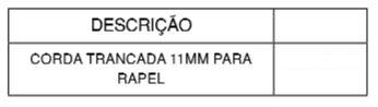 CORDA TIPO RAPPEL 11 MM-TABELA