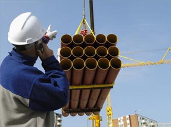 Laço de cabo de aço - elevação de carga